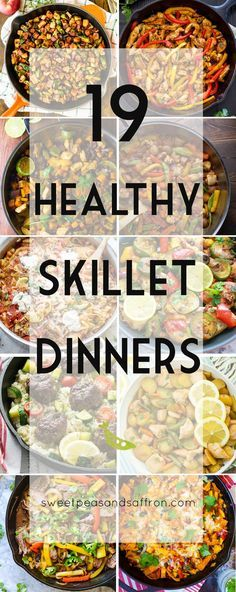 19 Healthy Skillet Dinners, a round-up of one-pan, stove-top dinner recipes that are good for you!
