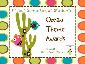 FREE! Ten different ocean theme awards are included. These colorful awards are blank so you that you can personalize them for any classroom need. I...