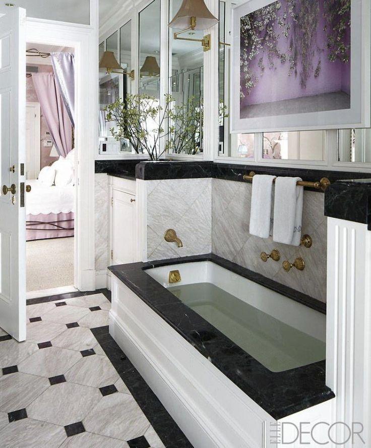 Mirrored Bathroom  - ELLEDecor.com