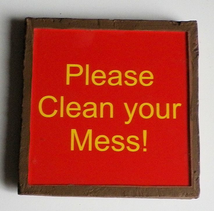 Text Please clean your mess FFHKB by LachanceGlassMosaic on Etsy