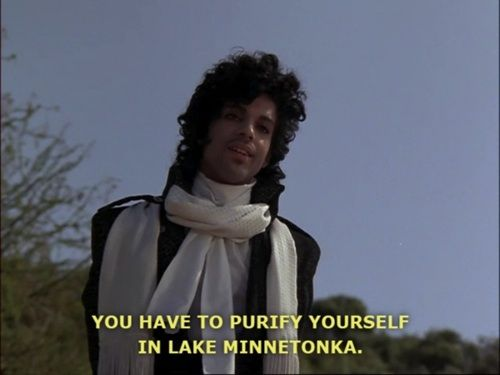Prince | Purple Rain. Classic quote.