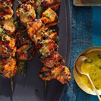 Moroccan lemon-herb chicken skewers - FANTASTIC! found in April 2014 issue of Rachel Ray's magazine...or here :)