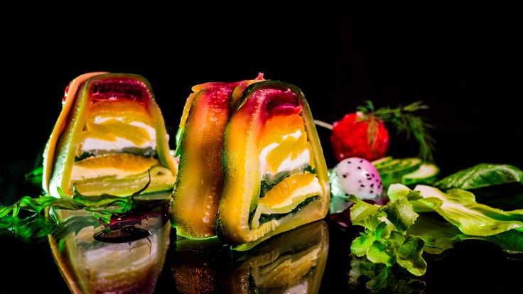 It looks just as good as it tastes! Learn how to make a vegetable terrine with goat cheese.