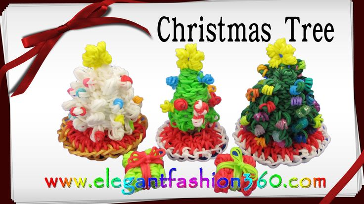 Tutorial for how to make Rainbow Loom Christmas Tree 3d Charms Holiday/Christmas Series Santa Claus/Christmas/Holiday/Ornaments Copyright ©2014 by Elegant Fashion 360