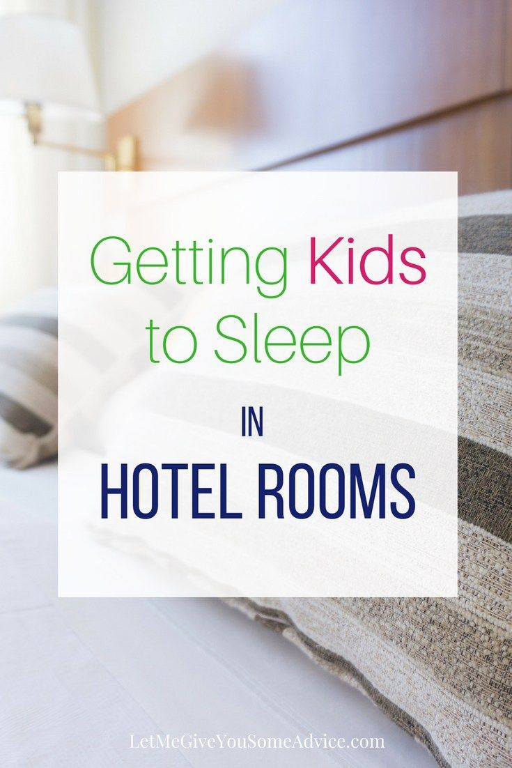Tips for Getting Your Kids to Sleep in a Hotel. It can be a hard part of family travel but finding ways for everyone to sleep better in a hotel room can make or break your vacation.