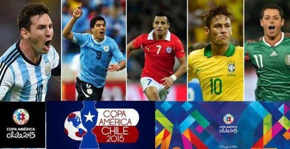 Coppa America in Cile dall'11 giugno al 4 luglio 2015