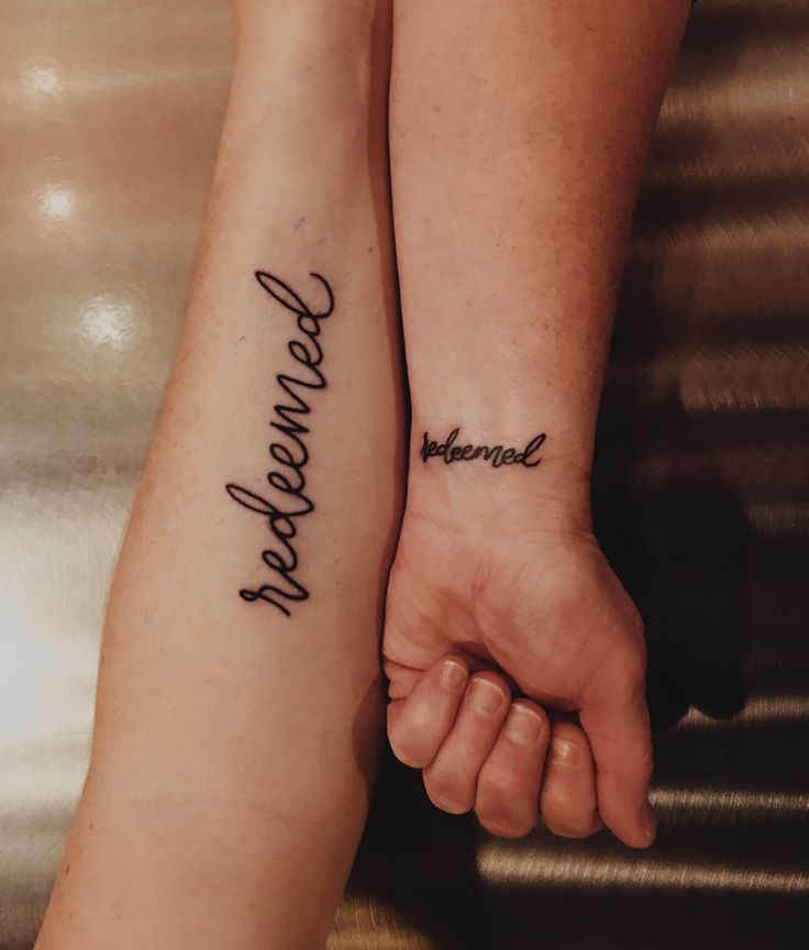 Isaiah 43:1 verse tattoo || mother daughter tattoo || redeemed || redeemed tattoo || bible tattoo || scripture tattoo || calligraphy font || saved by grace