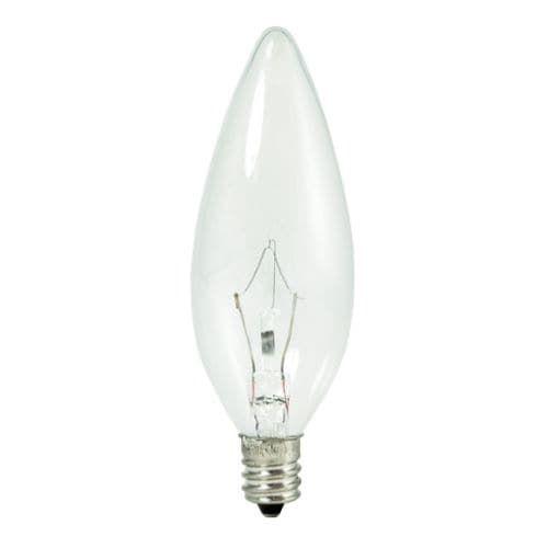 Bulbrite 460040 Pack of (10) 40 Watt Dimmable B10 Shaped Candelabra (E12) Base Xenon / Krypton Bulbs, White