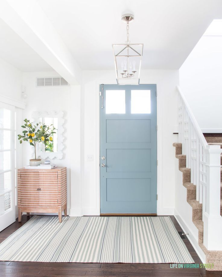 2019 Summer Home Tour Gray Front Door Colors Painted Front Doors Door Paint Colors