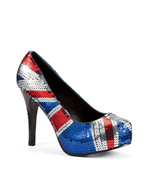 If you don't want to go the whole hog with the Union Jack thing these are a tad more subtle. Made by Iron Fist at New Look they cost £69.99 and have covered platform sole making them a little kinder on your feet.