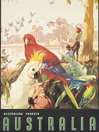 James Northfield (1887-1973) AUSTRALIA, PARROTS offset lithograph in colours, c.1930s, printed by F.W.Niven Ltd., Melbourne. Est