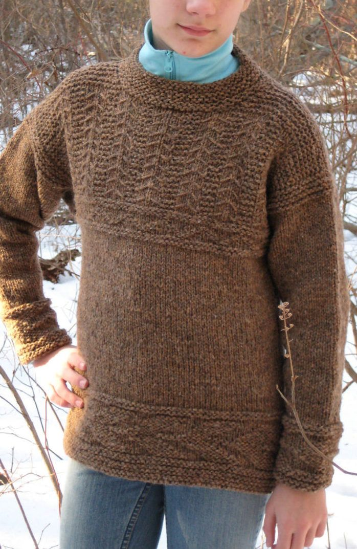 0522242c1 Free Knitting Pattern for Guernsey Sweater - Long-sleeved pullover ...