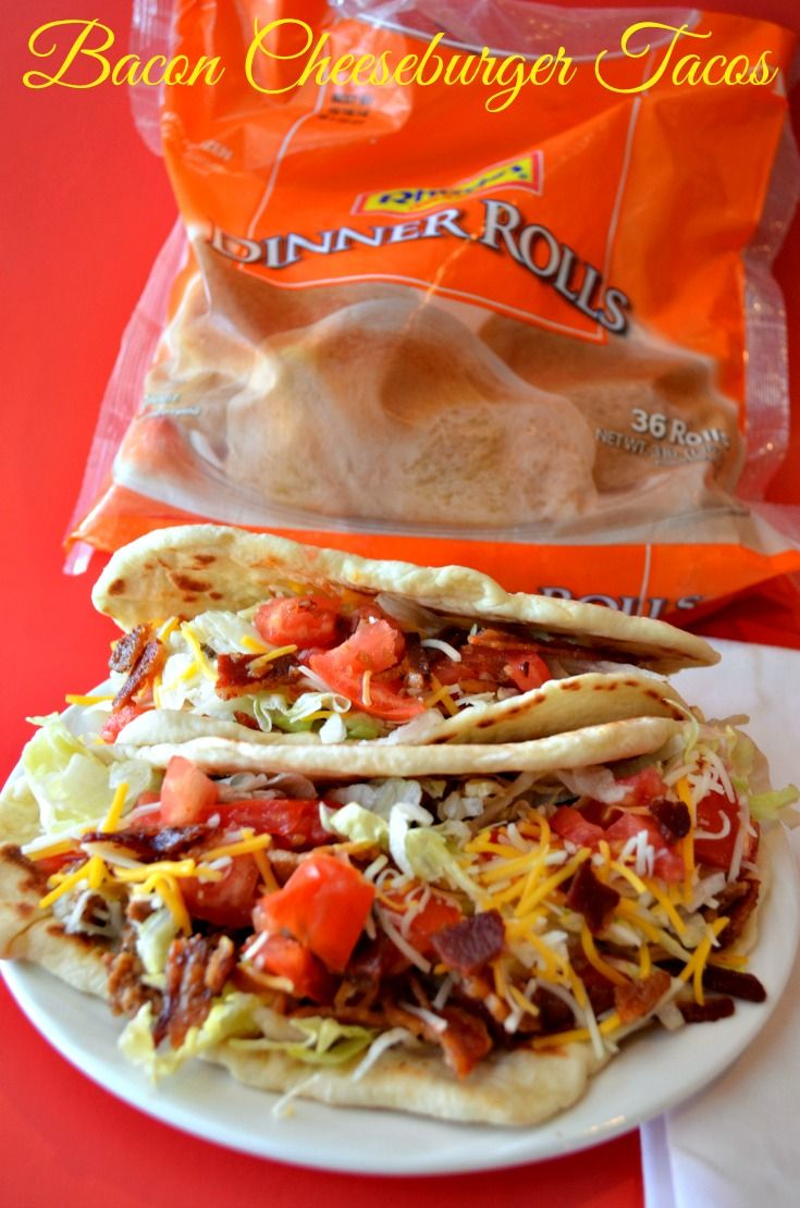 Bacon Cheeseburger Tacos