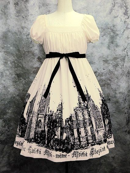 Moi-même-Moitié - Ruins Cathedral Long OP /// ¥35,700 /// Bust:  82 (full shirring) Length:  105