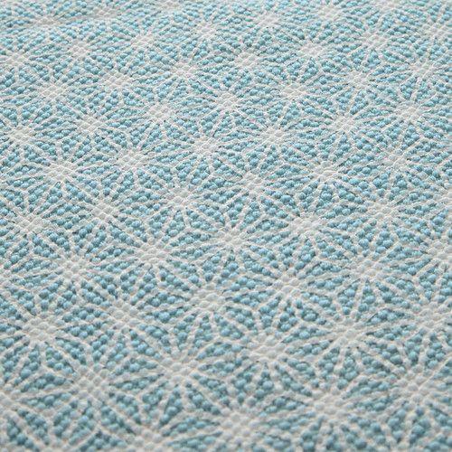 Tappeto blu in cotone 140 x 200 cm ORIGAMI Maisons Du Monde