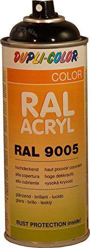 AEROSOL PEINTURE ACRYLIQUE ANTIROUILLE NOIR PROFOND 400 ML DUPLICOLOR RAL9005: Fiche technique RAL Acryl Haute qualité acrylique dans les…