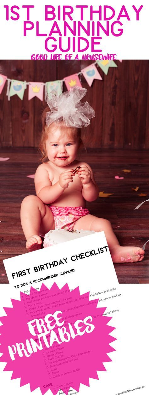 How do you plan a first birthday? Here is a free checklist for you. First Birthday Party Planning with Free Checklists   Smash Cakes   Baby Girl's First Birthday  First Birthday Themes