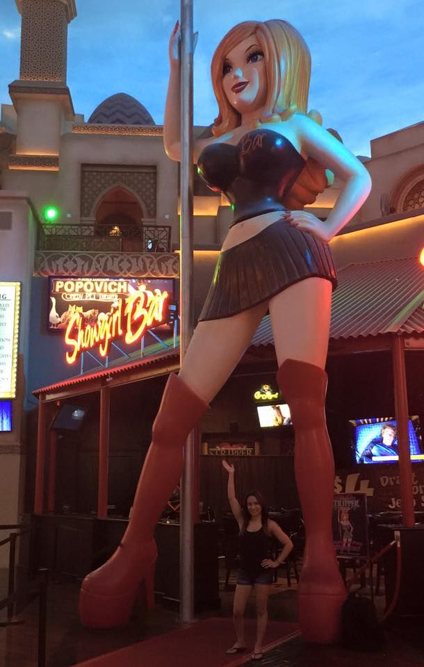 Grab drinks at Showgirl Bar before your #Stripper101 class, and strike a pose with the infamous #Showgirl!    Remember to use code: TIXANDTREATS10 for $10 off