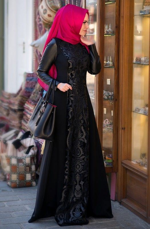 Muslima Wear Sultan Elbise 1601011 Siyah,Fulyan | Tesettür, Tesettür Giyim, Tesettür Elbise Online Alışveriş