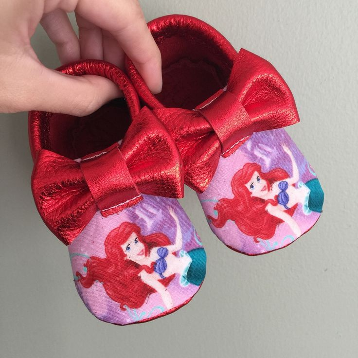 Little Mermaid baby moccasins | baby shower ideas | baby girl | 1st birthday | disney