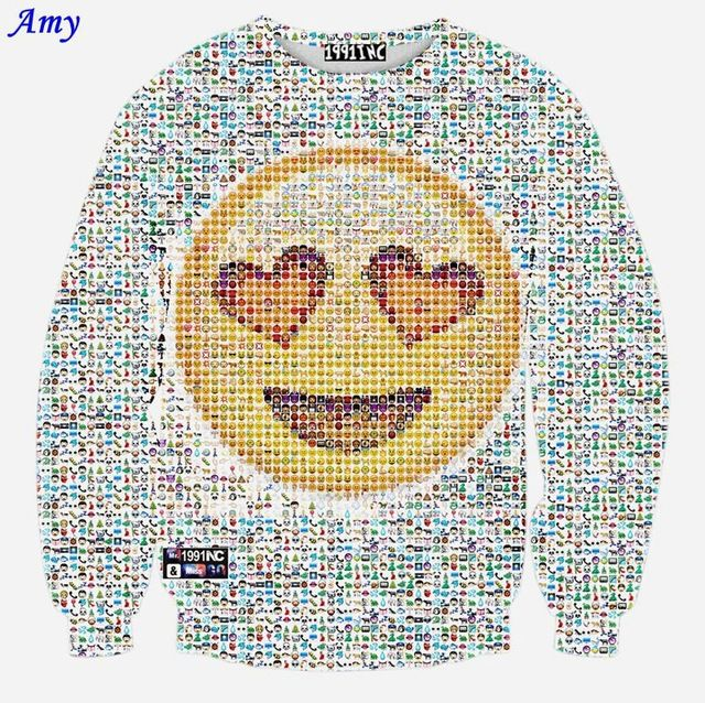 Promotion price [Amy] High Quality Newest women/men funny smile cartoon Graphics emoji 3d hoodies fashion long sleeve sweatshirt tops WY27 just only $16.80 with free shipping worldwide  #womanhoodiessweatshirts Plese click on picture to see our special price for you