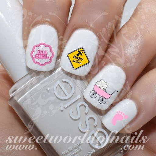 Nail Girl Games: 17 Best Ideas About Baby Shower Nails On Pinterest
