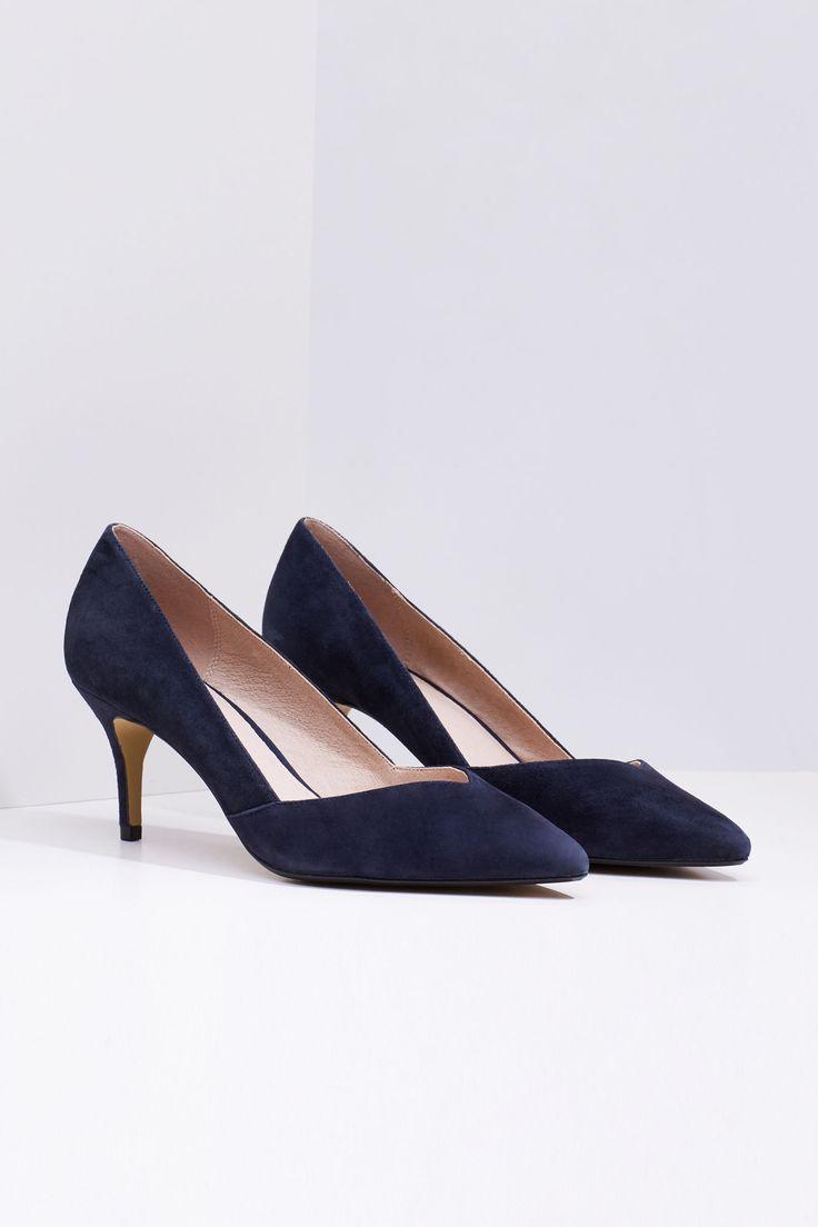 Zapato tacón ante | Zapatos | Cortefiel
