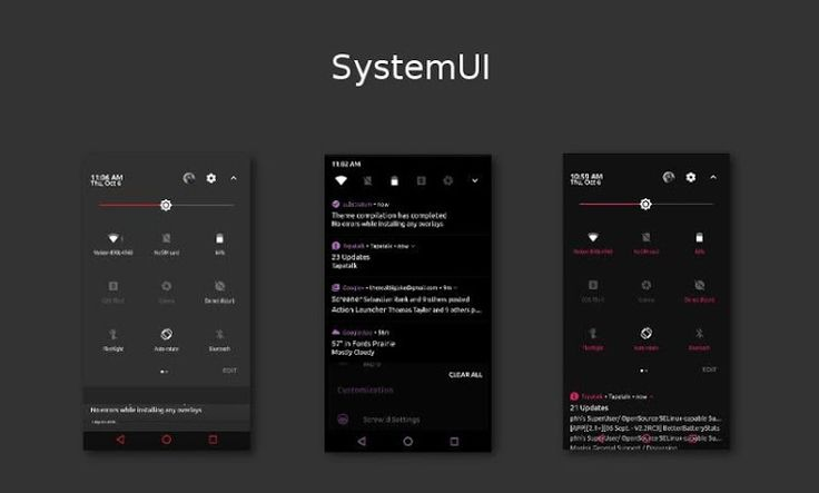 [Substratum] Dark Infusion v6.7 [Patched]   [Substratum] Dark Infusion v6.7 [Patched]Requirements:6.0 & up  Substratum Theme Engine  RootOverview:This Substratum theme is for Aosp 6.x/7.x Custom roms with OMS. !!NOT FOR ANDROID 5.x!!  !!!No Legacy Support!!! Use at your own risk on stock roms! Telegram group for help and questions -http://ift.tt/2jD2Sln  Build your own dark look with 12 Accent colors tons of Primary Background and card color choices.  Themed:  - SystemUI  - Framework  - Aosp…