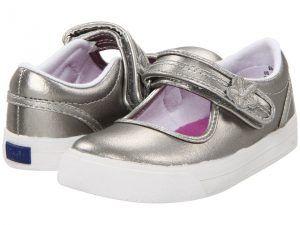 Keds Kids Ella MJ (Toddler/Little Kid) (Pewter) Girls Shoes
