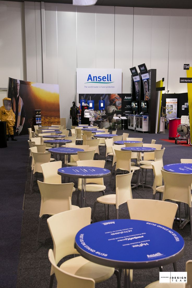 ANSELL @ AOG Ansell's continued sponsorship of the Ansell bar at AOG allows them major exposure to the oil and gas industry.  Their adjacent stand connects visitors with their products.
