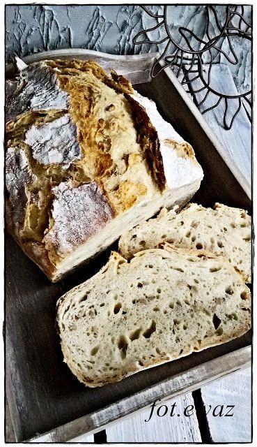 Ewa w kuchni: Słonecznikowy pszenno - żytni chleb bez wyrabiania...