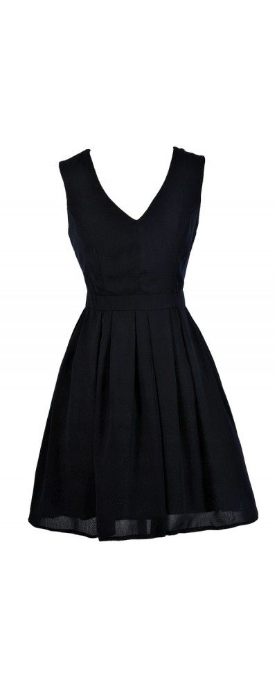 Ready To Party A-Line Dress in Dark Navy  www.lilyboutique.com