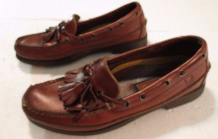 Sperry Top-Sider Boat Shoes Men's 9M Brown Leather Tassel & Kiltie Loafers #SperryTopSider #BoatShoes