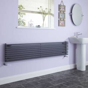 This luxury grey radiator in the bathroom is gorgeous.