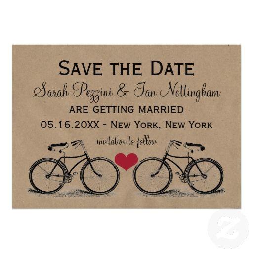 ヴィンテージや自転車ラブなカップルに。#zazzle #ウェディング #結婚式 #招待状 #インビテーション