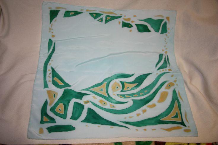 шелковый платок с росписью