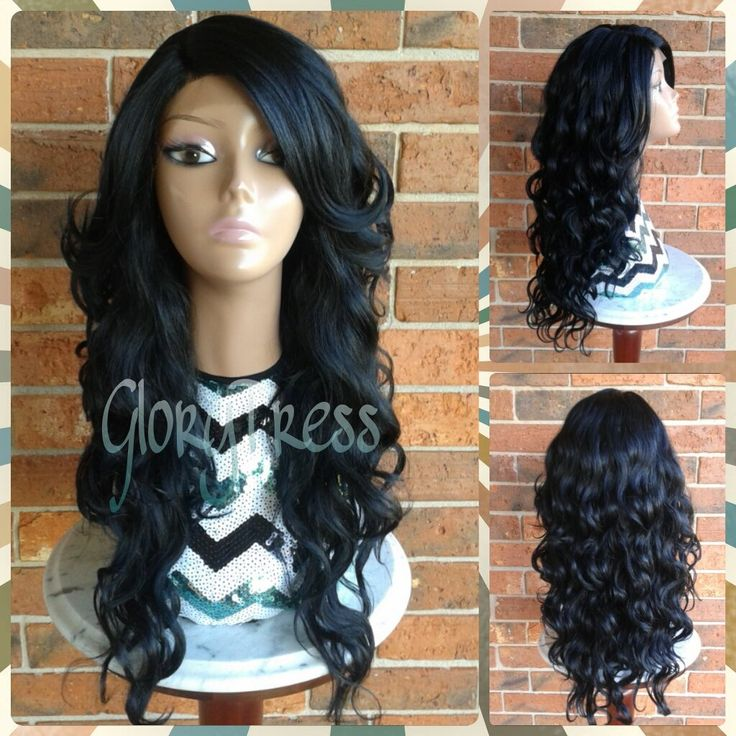 ON SALE // Long & Wavy Lace Front Wig, Ombre Lace Front Wig, Side Swoop Bangs // BEAUTIFUL (Free Shipping)