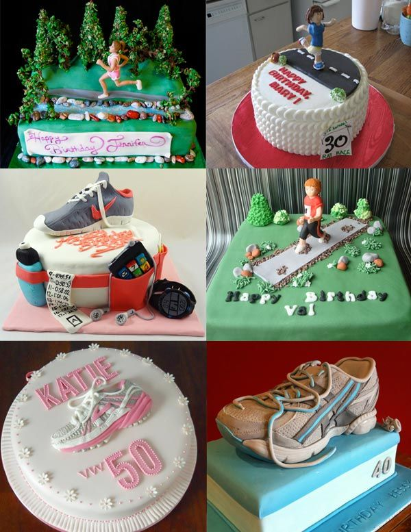 I want this for my birthday!! running cakes