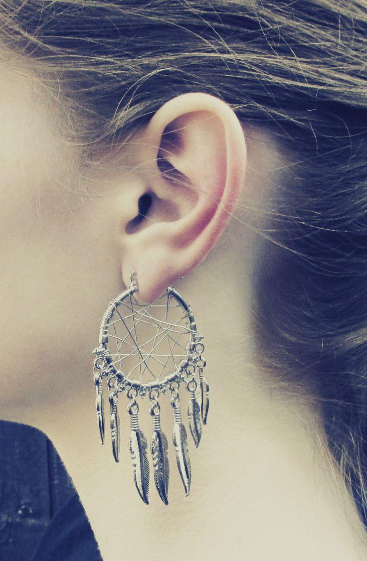 dream catcher earrings! beautiful, handmade off