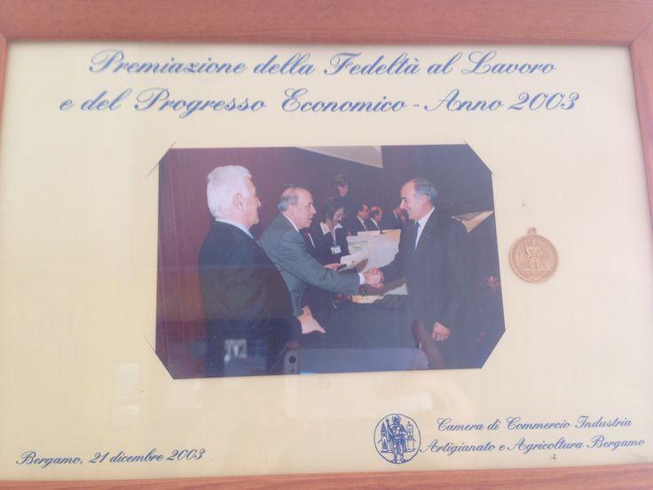 Premiazione alla Fedeltà al Lavoro e del Progresso Economico 2003  Loyalty awards at the Labor and Economic Progress in 2003