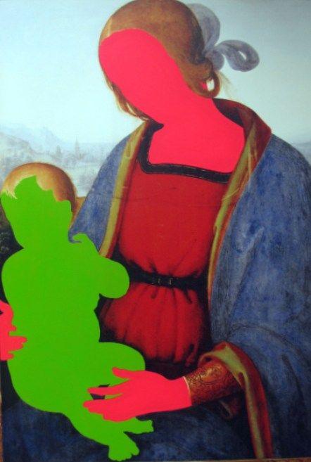 Yüzsüzler Serisi-Faceless Series No27, 2011, 133x91 cm, Tuval üzeri karışık teknik-Mixed media on canvas