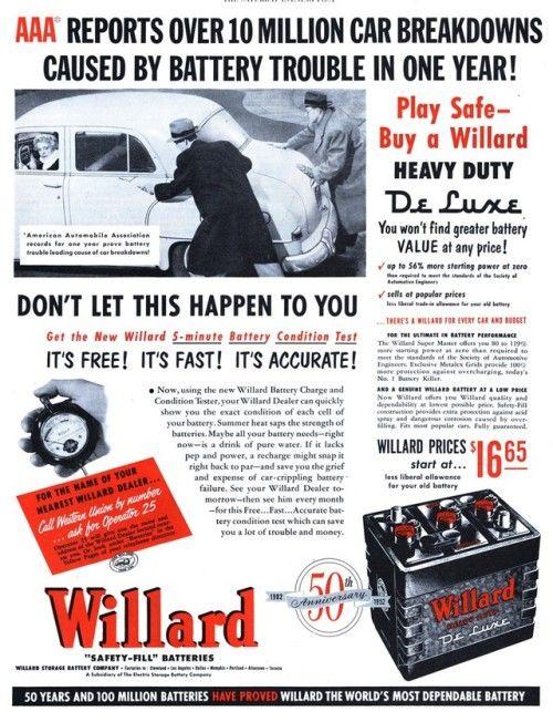 Willard - 19521206 Post | Old TV commercials and radio