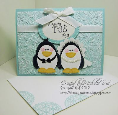 Penguins- I need to try and make this this week for my SIL. :): Punch Art Cards, Wedding Cards, Cards Ideas, Penguins Love, Art Penguins, Cute Ideas, Wedding Invitations, Art Ideas, Penguins Wedding