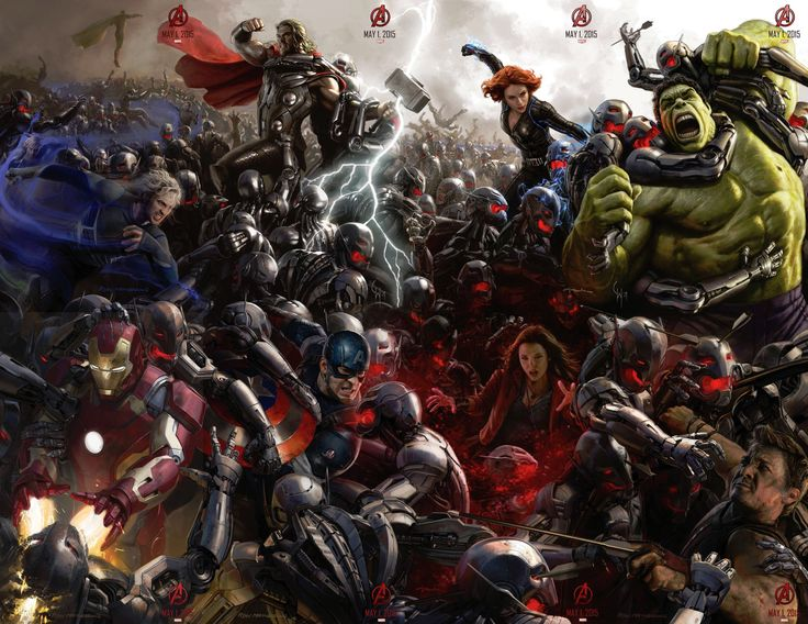 Complete poster of #AvengersAgeofUltron at SDCC 2014