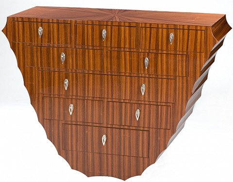 10 Drawer Hanging Wall Cabinet By Kent Townsend