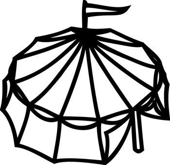 Cirque, Tente, Carnaval, Drapeau