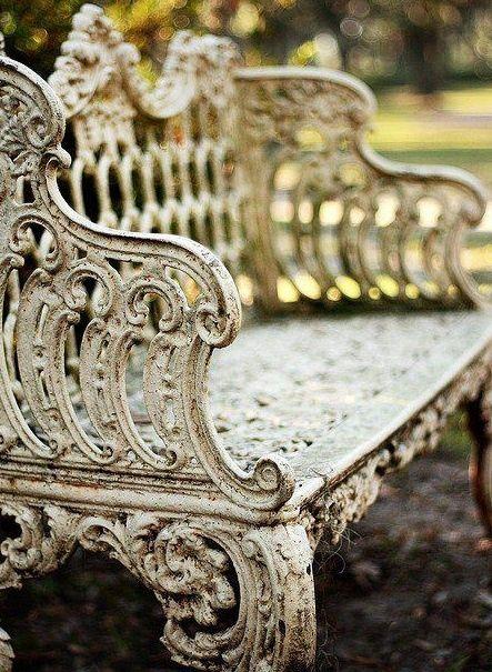 Garden bench..rod iron