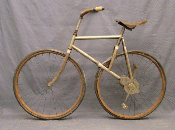 Circa 1890 S Bronco Style Cross Frame Pneumatic Bicycle