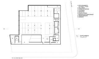 Planta 2º sub-solo | Centro Cultural do Instituto Ling - Isay Weinfeld | Porto Alegre