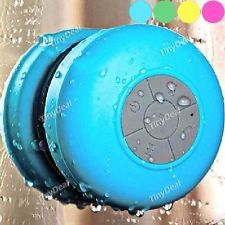 For those who love to Karaoke in the bathrooms, sync with any smartphone or computer to play it on.Blue Bluetooth Waterproof Speaker